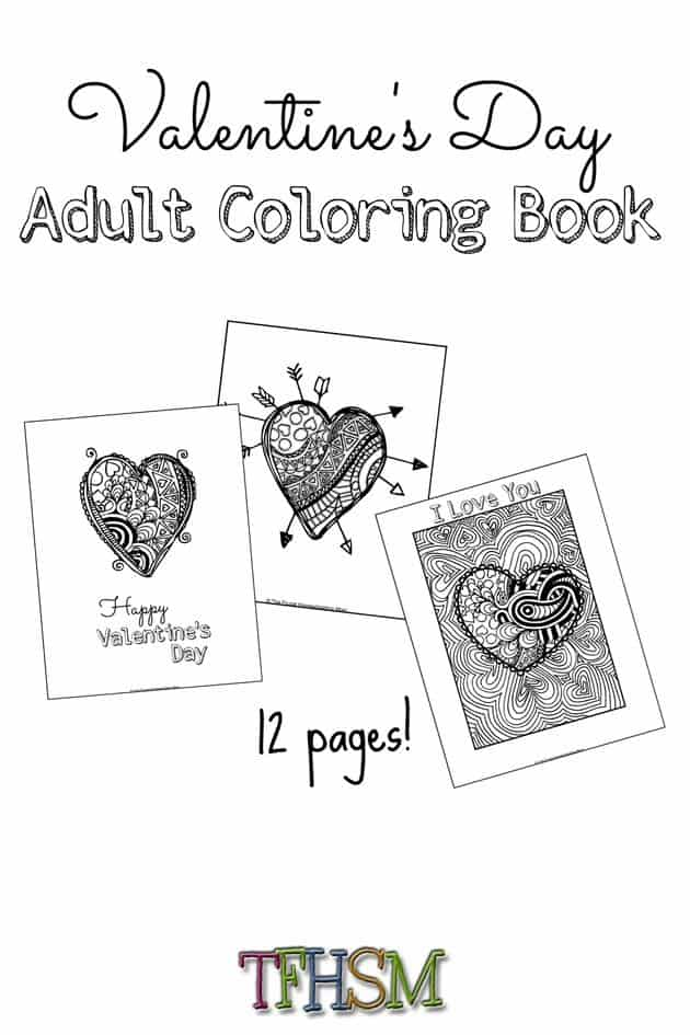 FREE Valentine's Day Coloring Book Perfect for Teens ...