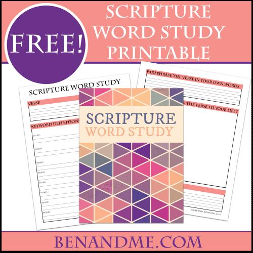 FREE Scripture Word Study Printable – Word Study Worksheets
