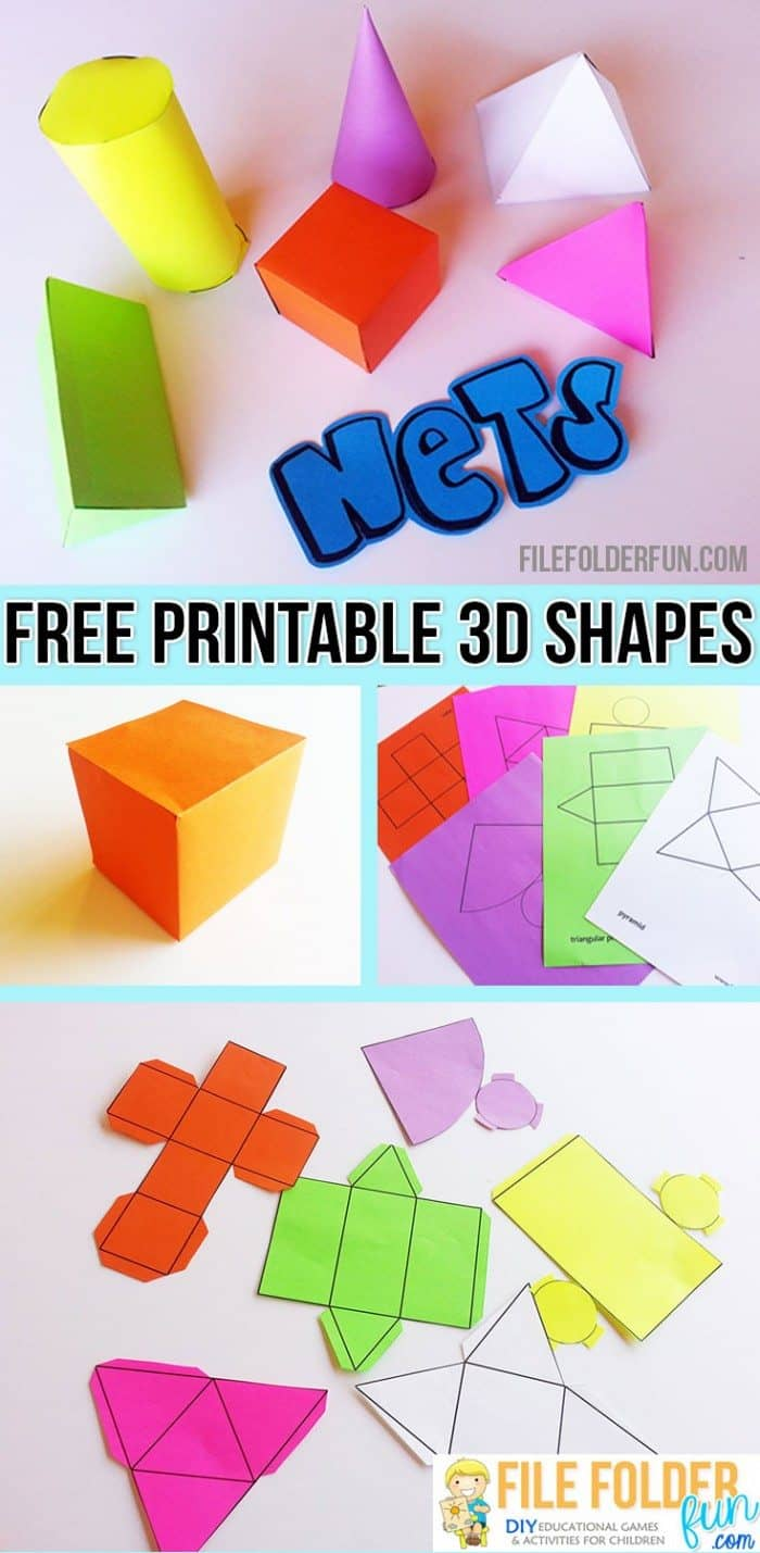 Free printable 3d shapes How to make 3d shapes
