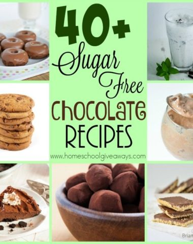 Stick to your healthy new years resolutions, even at Valentine's Day, with these DELICIOUS Sugar-Free Chocolate Recipes! :: www.homeschoolgiveaways.com