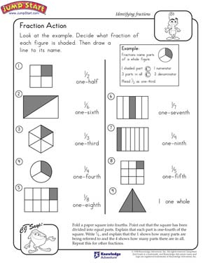 Fan image with printable fraction games for 3rd grade