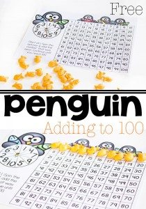 penguin-addition-to-100-pin