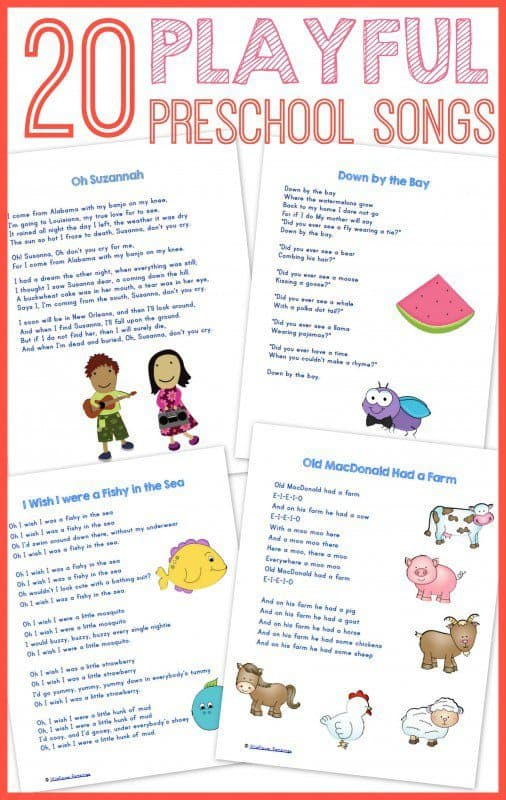 20 best preschool songs free printable for Top 20 house tracks
