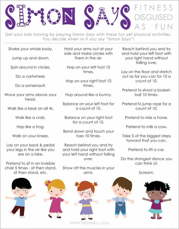Free simon says fitness printable - One of your students left their book on the table ...