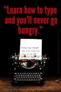 Learn how to type and you'll never go hungry!