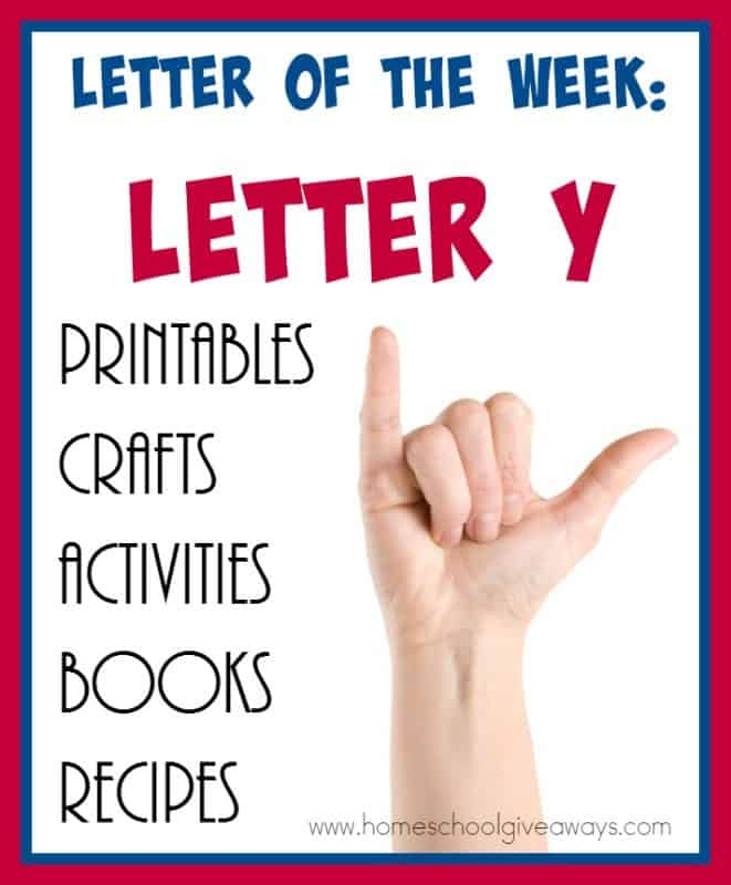 "Make learning the Letter ""Y"" fun and exciting with these AWESOME resources! From {free} printables to crafts to activities to books and recipes! :: www.homeschoolgiveaways.com"