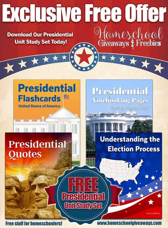 FREE Presidential Unit Study Set – $29.95 Value! | Free ...