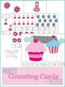 PrincessCountingCardsPuzzles
