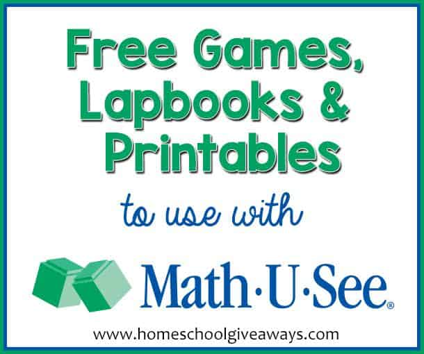 FREE Games, Lapbooks and Printables to use with Math U See