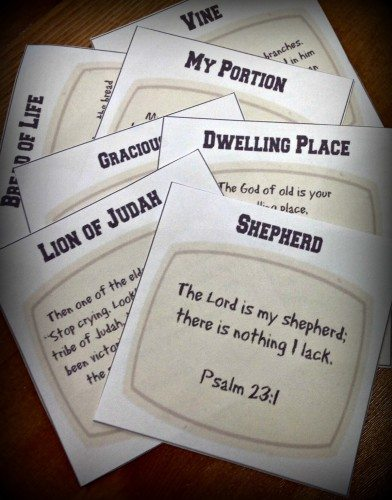 photo regarding Free Printable Names of God titled Totally free Names and Features of God Printable Playing cards