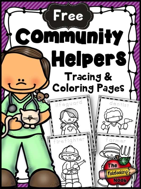 FREE Community Helpers Tracing
