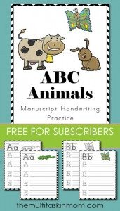 Animals-ABC-Handwriting
