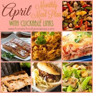 This month you'll find Friday Night Grilled meals as well as Slow Cooker meals on Sundays and Wednesdays, a variety of oriental, mexican meals and meats too! :: www.homeschoolgiveaways.com