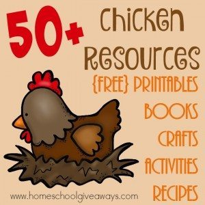 If you're studying chickens, their life cycle or getting ready to add them to your little farm, check out these great resources to make it part of your homeschool learning! :: www.homeschoolgiveaways.com