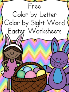 eastercolorworksheets
