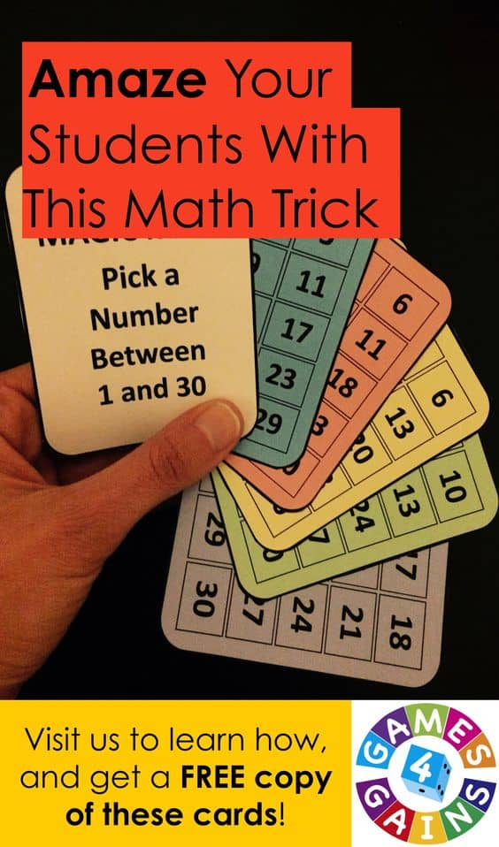 free printable math trick cards  homeschool giveaways