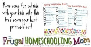 Frugal-Homeschool-Spring-Scavenger-Hunt-Free-printable