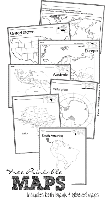FREE Printable Blank Maps - Homeschool Giveaways