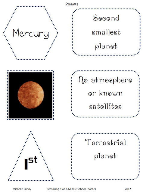 Planet Cards.Mercury
