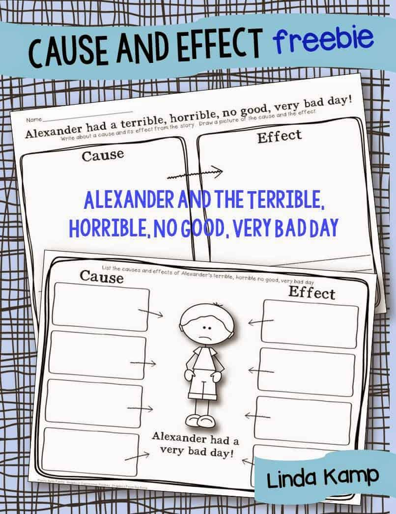 Free Printable Cause And Effect Worksheet For Alexander