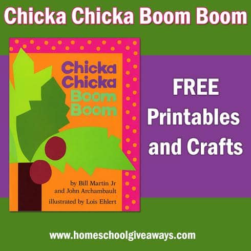 picture relating to Chicka Chicka Boom Boom Printable Book identified as Cost-free Chicka Chicka Increase Growth Printables and Crafts
