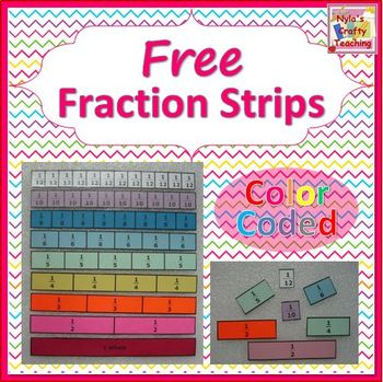 Bright image pertaining to free printable fraction strips