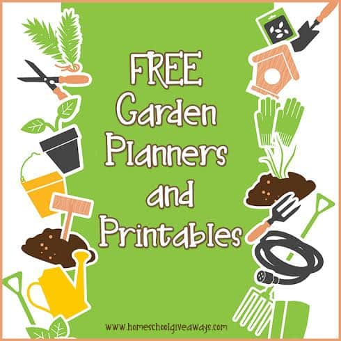 picture regarding Free Printable Garden Planner called Cost-free Backyard Planners and Printables - Homeschool Giveaways