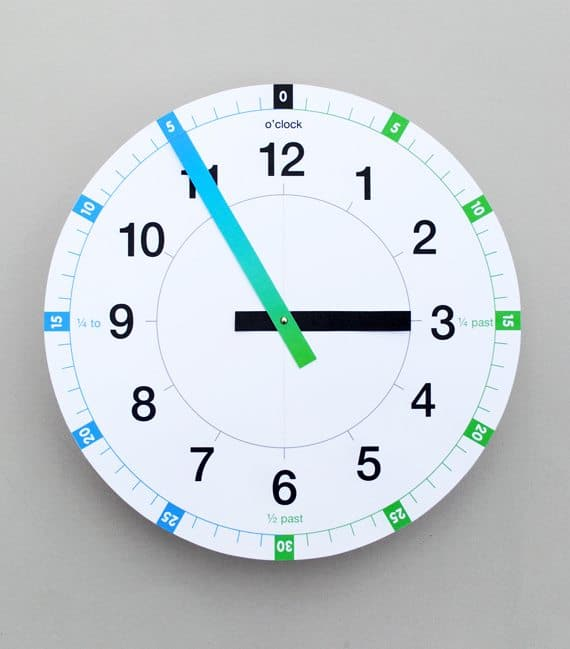 Free Tell The Time Printable Clock