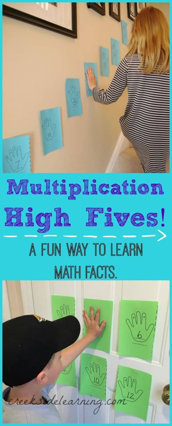 FREE Multiplication High Fives Printables