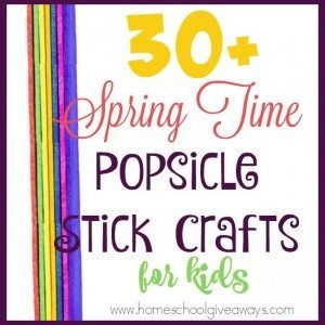 Do you hoard craft supplies, but have no idea what to do with them? Check out these super cute Spring-Time Popsicle Stick Crafts and Animals that are sure to make your kids smile! :: www.homeschoolgiveaways.com