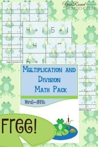 Free-Frog-Multiplication-and-Division-Math-Pack-3rd-5th-By-Year-Round-Homeschooling