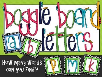 Printable boggle {{freebie}} by the polka dotted classroom   tpt.