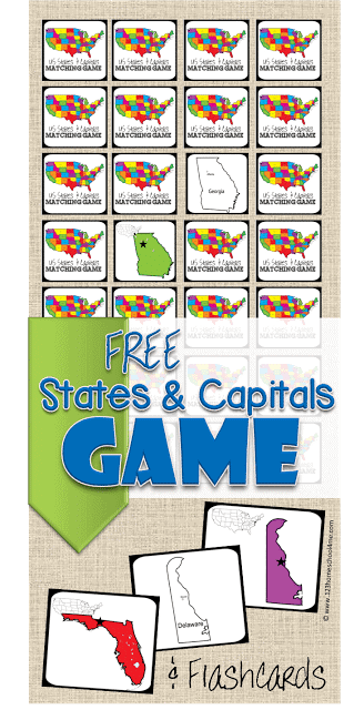 FREE Printable State Capitals Game - Homeschool Giveaways