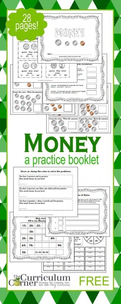 free printable money booklet homeschool giveaways. Black Bedroom Furniture Sets. Home Design Ideas