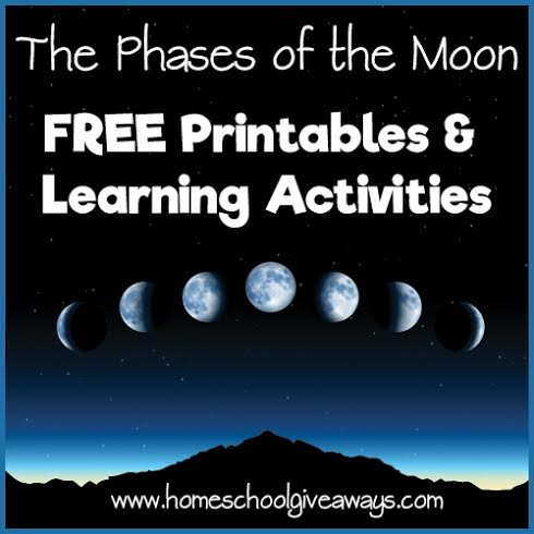 The Phases Of Moon FREE Printables And Learning Activities