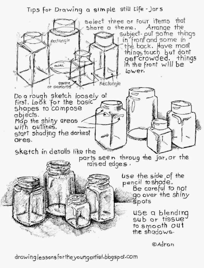 Scribble Drawing Still Life : How to draw a still life with free printable worksheet