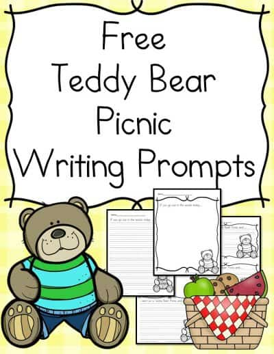 sample pages of FREE Teddy Bear Picnic Writing Prompts