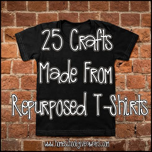 25 crafts made from repurposed t shirts