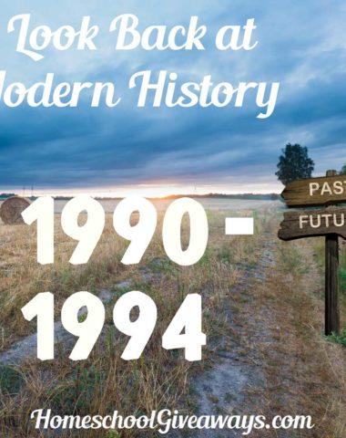 A Look Back at Modern History 1990-1994