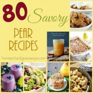 Pears are one of those fruits you either love or hate. Combining them with savory spices is key and these recipes certainly deliver! :: www.homeschoolgiveaways.com