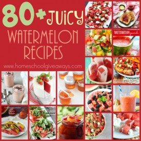 Watermelon is that one fruit that just seems to scream summer. Check out these juicy recipes for your summer gatherings! :: www.homeschoolgiveaways.com