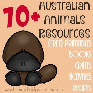 If you're studying Australian Animals, check out these great resources! From printables to crafts to books to recipes and more! :: www.homeschoolgiveaways.com