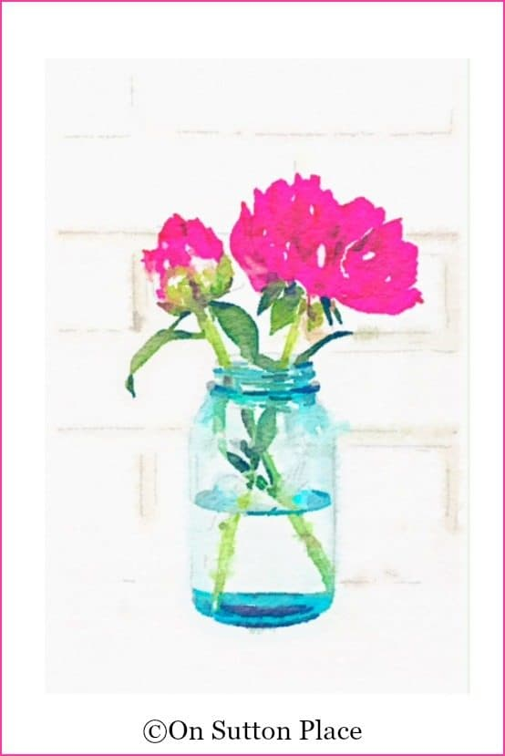 peony-in-mason-jar-watercolor-printable