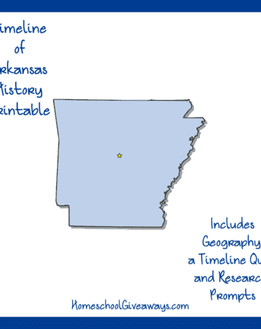 Arkansas History Printable