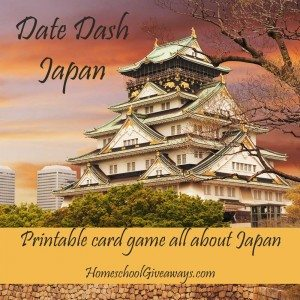 Date Dash Japan - Printable Japanese History Card Game