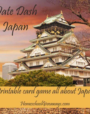 Date Dash Japan - Printable Japanese History Card Game