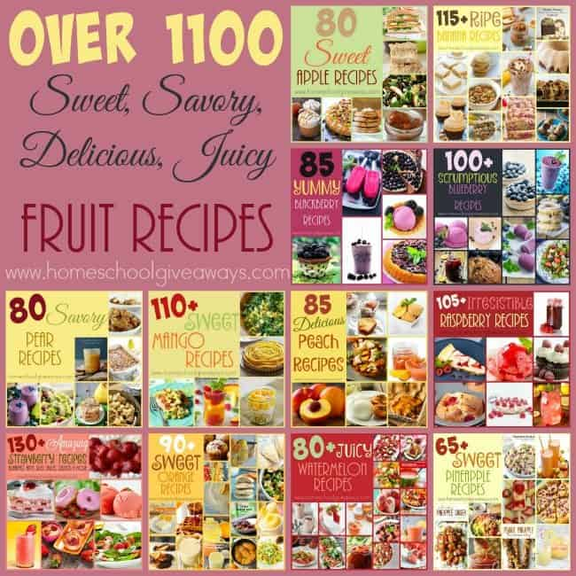 If you love fruit and want to be more creative with it in your recipes...check out this HUGE round-up of over 1100 options! :: www.homeschoolgiveaways.com