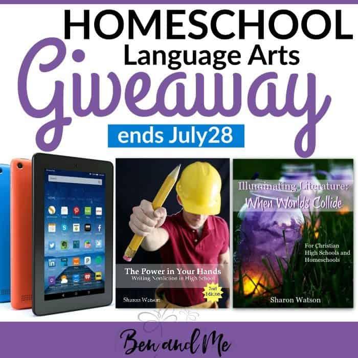 Homeschool Language Arts Giveaway sq