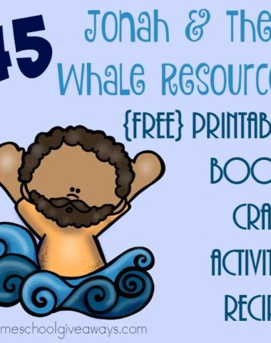 If you're studying Jonah and the Whale, be sure to catch these great resources! From printables to books to recipes and MORE! :: www.homeschoolgiveaways.com