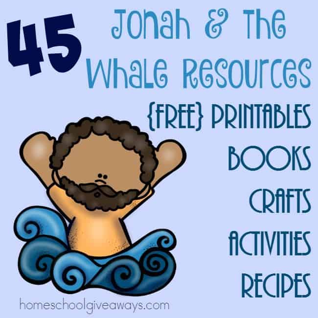 photograph about Jonah and the Whale Printable titled Jonah the Whale Elements - Homeschool Giveaways